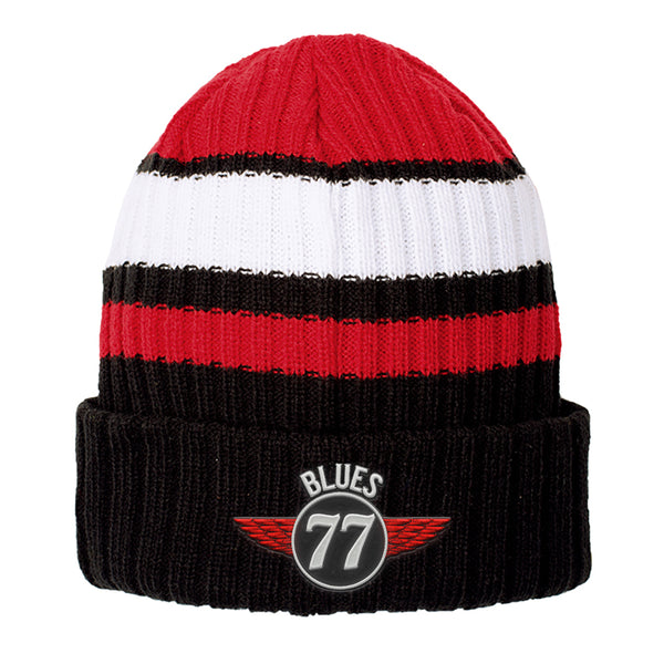 Interstate Blues New Era Ribbed Tailgate Beanie - Red