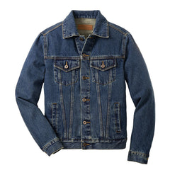 In Blues We Trust Back Patch - Port Authority Denim Jacket (Men)