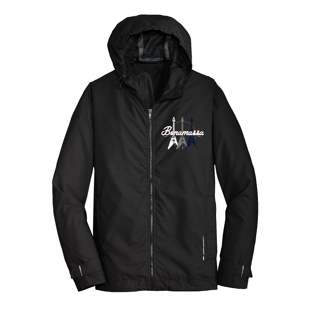 Triple Flying V Port Authority Slicker Rain Jacket (Men) - Black