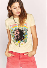 Janis Joplin 1969 Slim T-Shirt - Buttercream