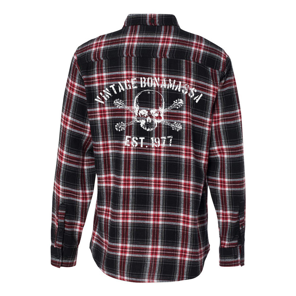 JB Vintage Flannel Long Sleeve (Men) - Red & Black