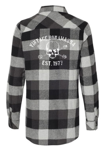 JB Vintage Flannel Long Sleeve (Women) - Black
