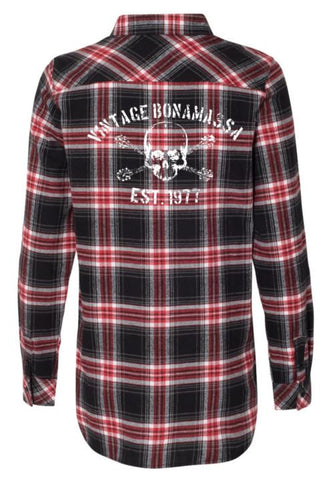 JB Vintage Flannel Long Sleeve (Women) - Red & Black