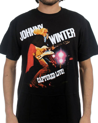 Johnny Winter - Captured Live T-Shirt (Men)