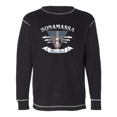 Blues Rock Guitar Logo Thermal (Unisex) - Black