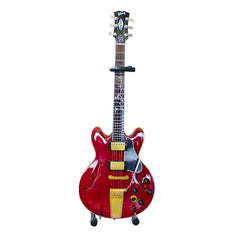 "Joe Bonamassa Signature ""1972 Red ES"" Mini Guitar Replica Collectible"