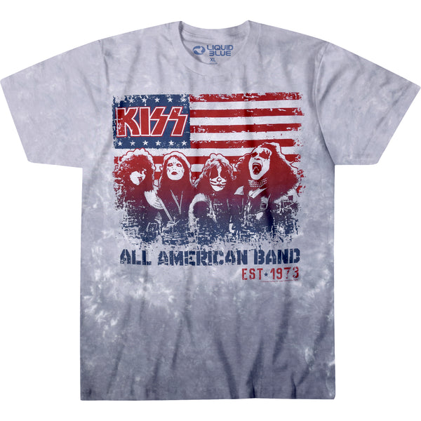 KISS - All American Band Tie Dye T-Shirt (Men)