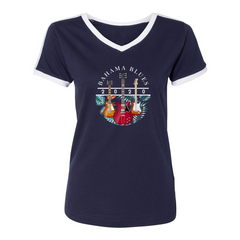 Bahama Blues V-Neck (Women) - Navy/White