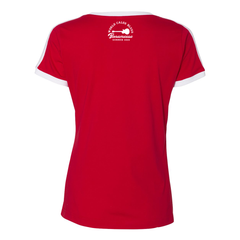 World Class Blues V-Neck (Women) - Red/White