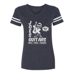 Joe's Guitars V-Neck (Women) - Vintage Navy/White