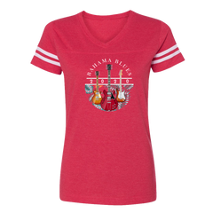 Bahama Blues V-Neck (Women) - Vintage Red/White