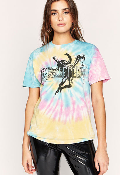 Led Zeppelin Weekend T-Shirt - Rainbow Tie Dye