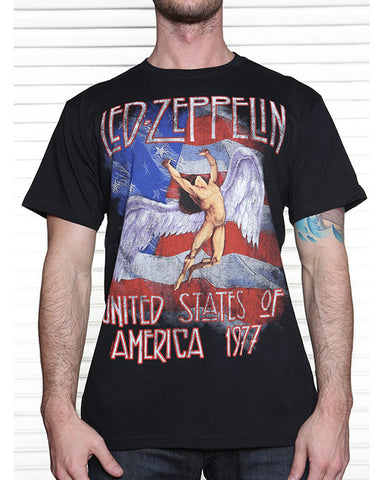 Led Zeppelin  - America 1977 T-Shirt (Men)