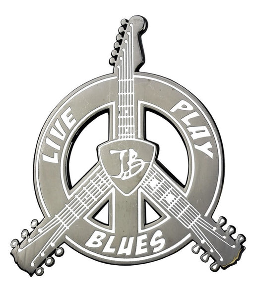 Live. Play. Blues. Pin
