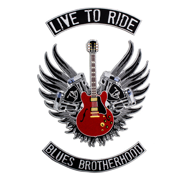 Live to Ride 3 Piece Sew On Patch