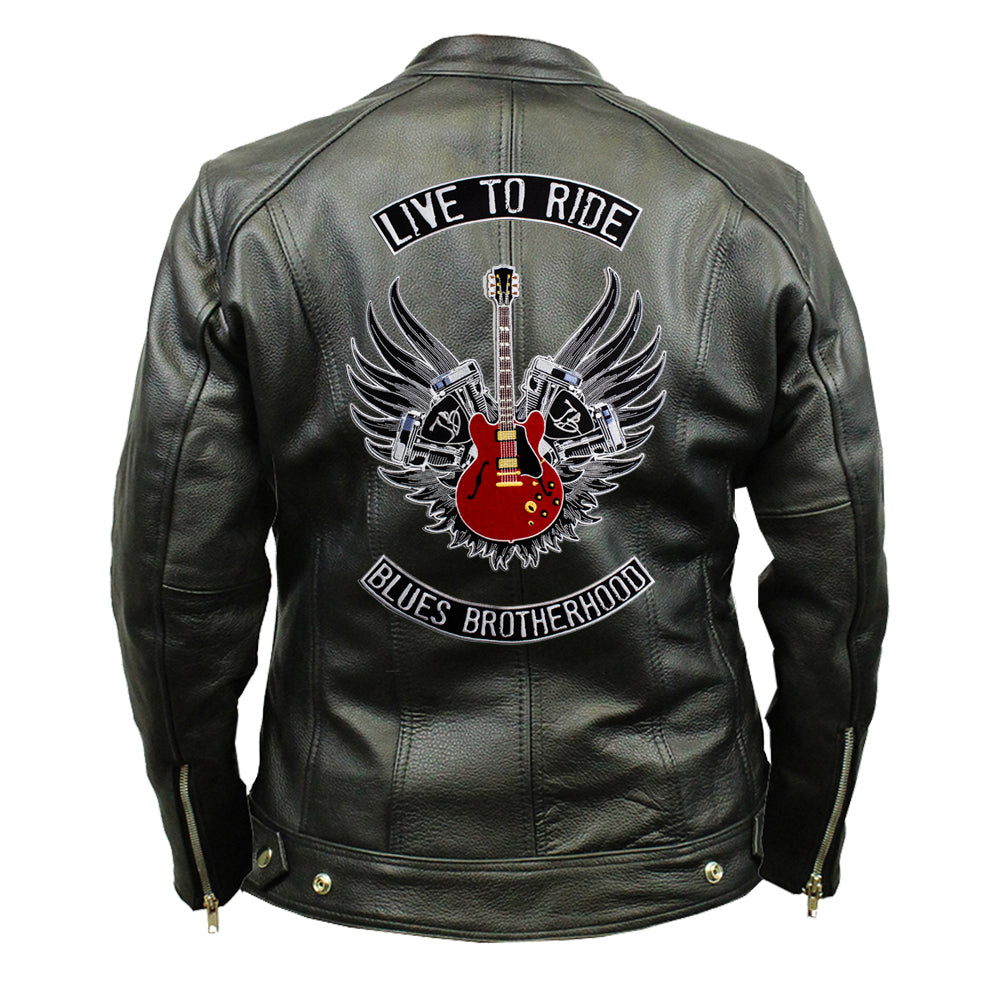 Live to Ride Back Patch - Top Grain 3 Pocket Leather Jacket (Women)