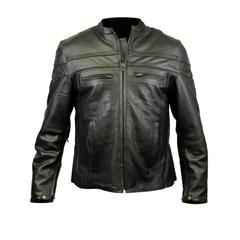 Live to Ride Back Patch - Racer Leather Jacket with Vents (Men)