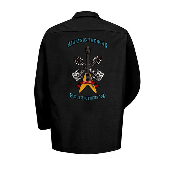 Always on the Road Back Patch - Dickies Long Sleeve Work Shirt (Men)