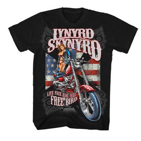 Lynyrd Skynyrd - Live Free, Ride Free T-Shirt (Men)