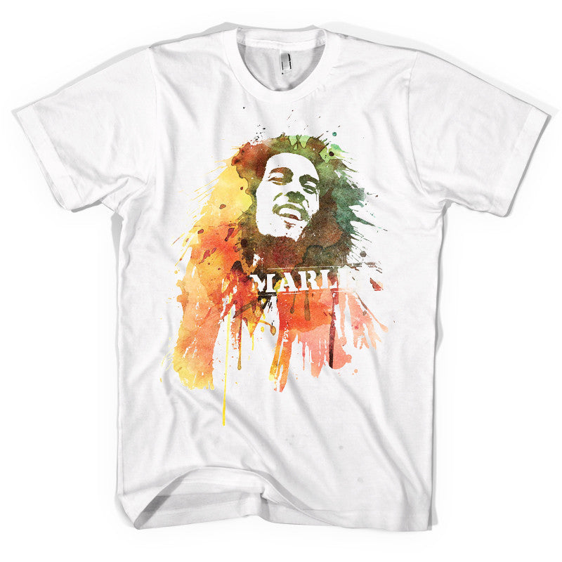 Bob Marley - Water Color Portrait T-Shirt (Unisex)