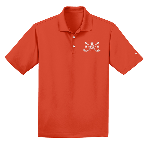 Blues Bogey Nike Dri-FIT Micro Pique Polo (Men) - Team Orange