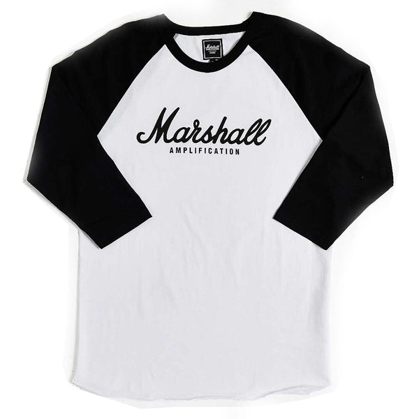 Marshall Amplification – Script Logo Baseball T-shirt (Unisex)
