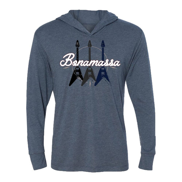 Triple Flying V Long Sleeve & Hoodie (Unisex) - Indigo