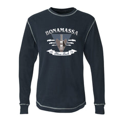 Blues Rock Guitar Logo Thermal (Unisex) - Vintage Navy