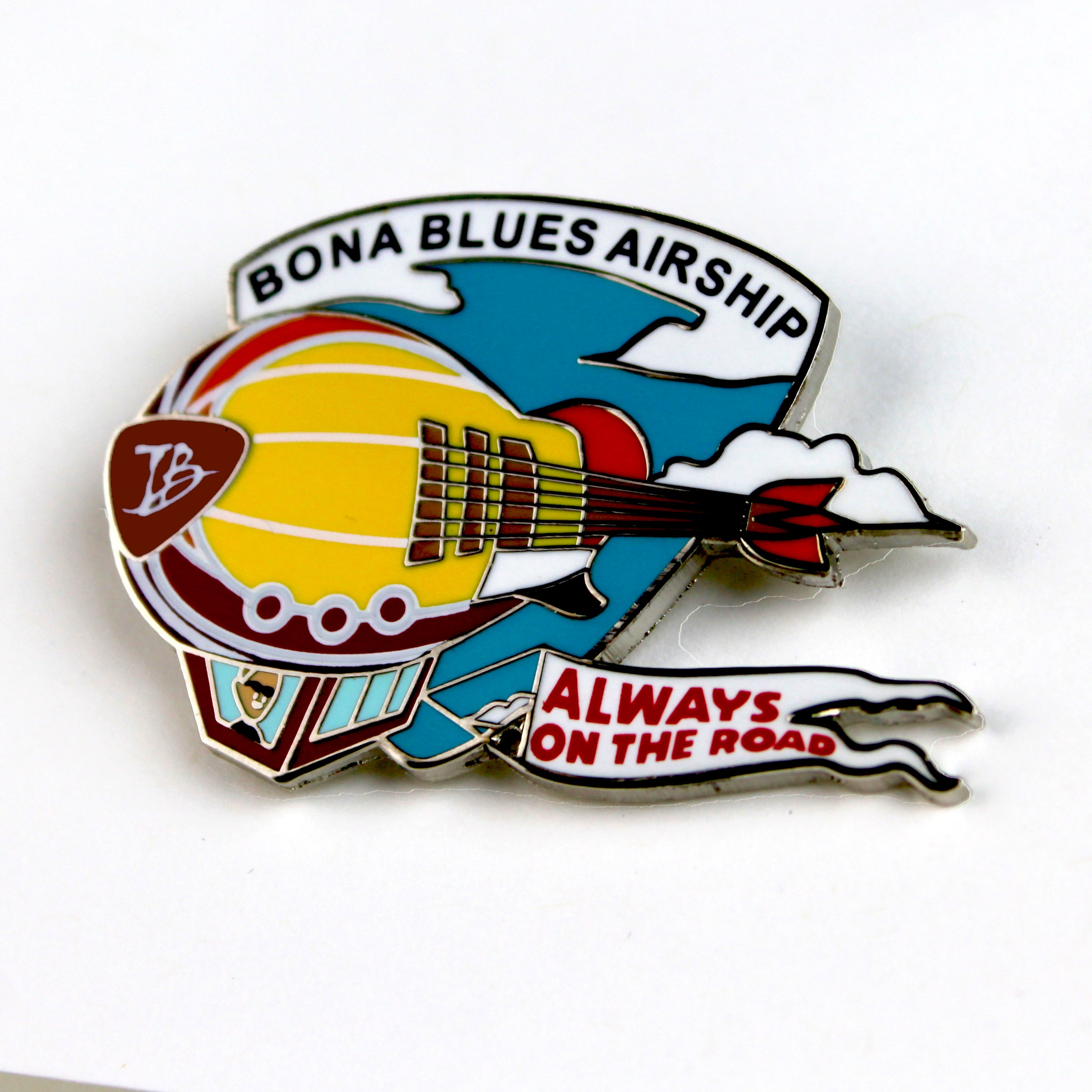 Bona Blues Airship Pin