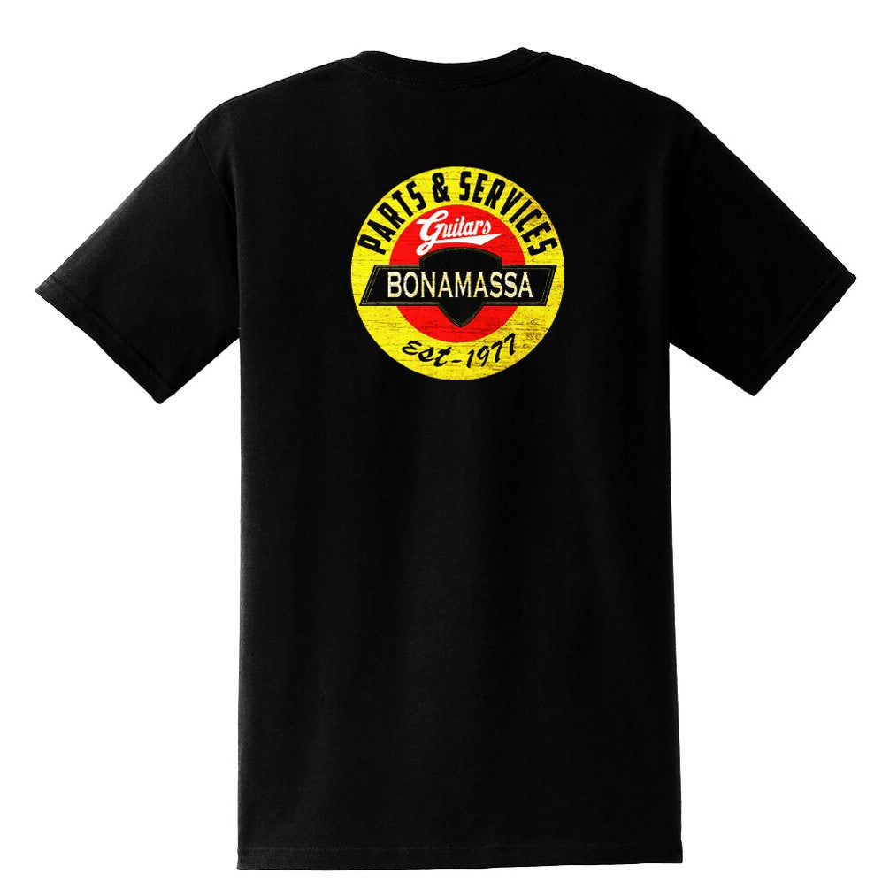 Bonamassa Guitar Parts & Service Pocket T-Shirt (Unisex)