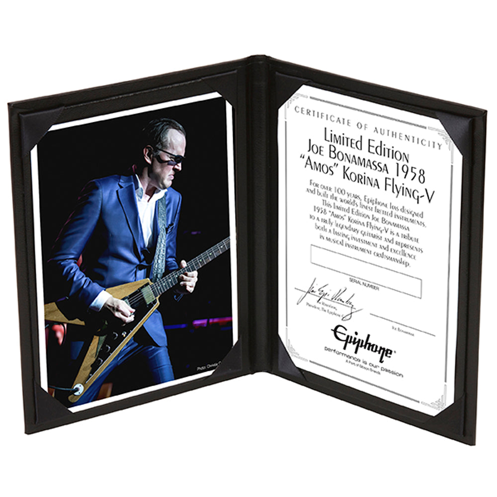 "2017 Ltd Ed Joe Bonamassa 1958 ""Amos"" Korina Flying-V Outfit Custom Epiphone w/Case - Includes Two Meet & Greets (USA)"
