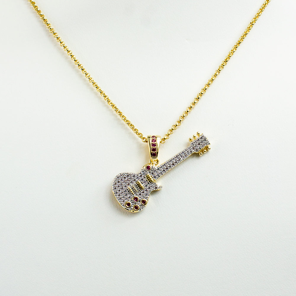 Pavé Guitar Necklace