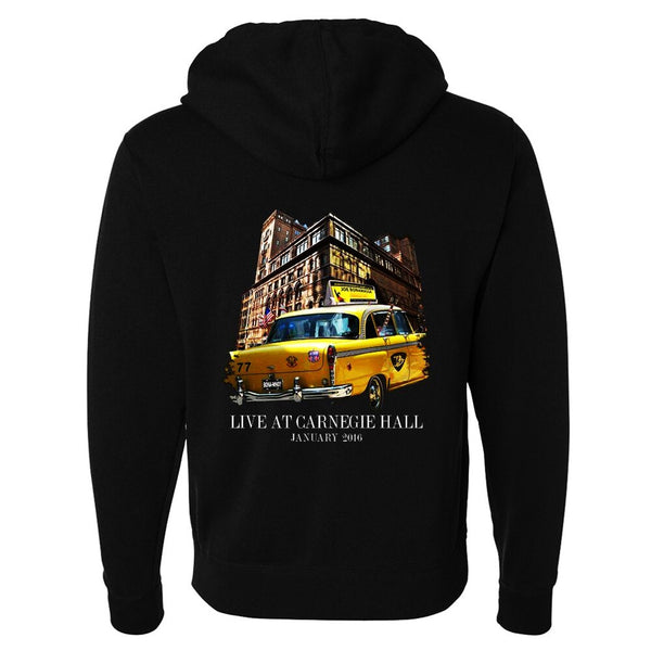 """Carnegie Hall, Please!"" Zip-Up Hoodie (Unisex)"