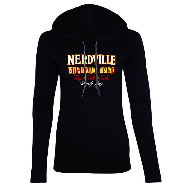 Nerdville Vintage & Rare Hooded Long Sleeve (Women)