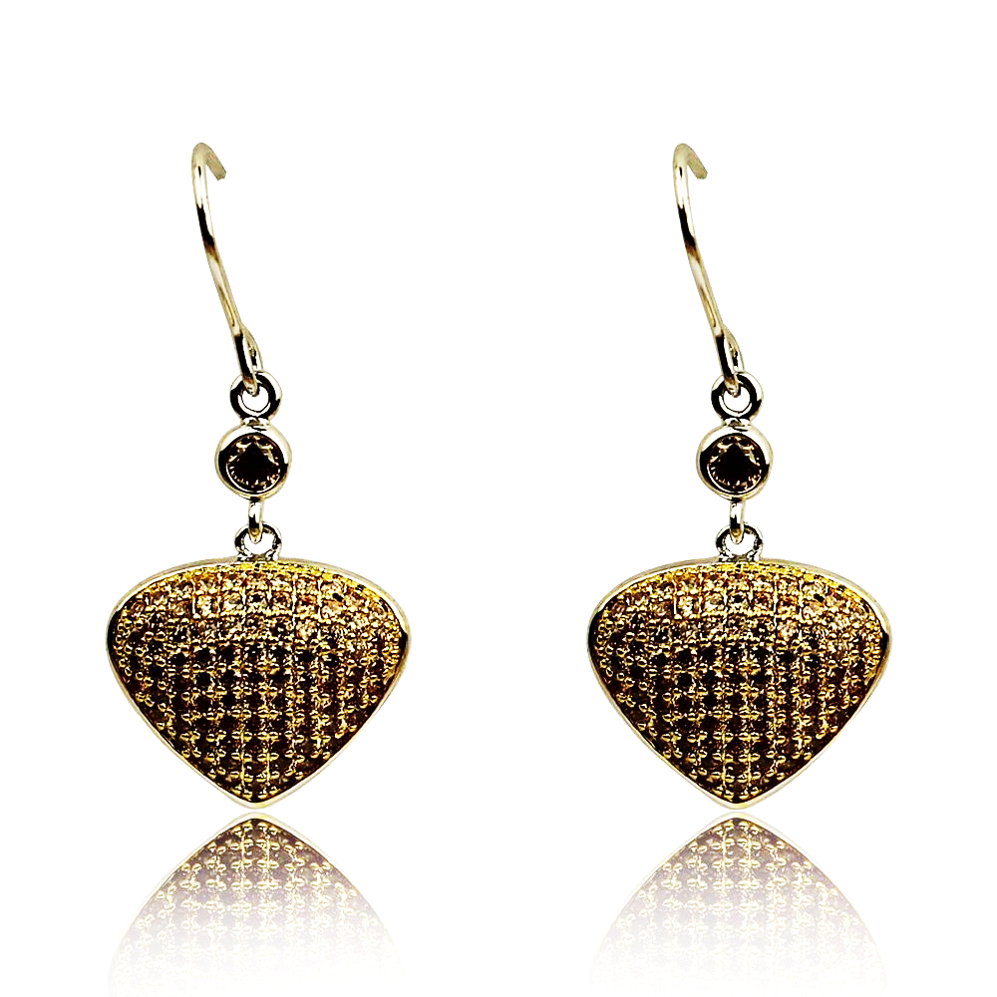Bona-Fide Champagne Guitar Pick Earrings