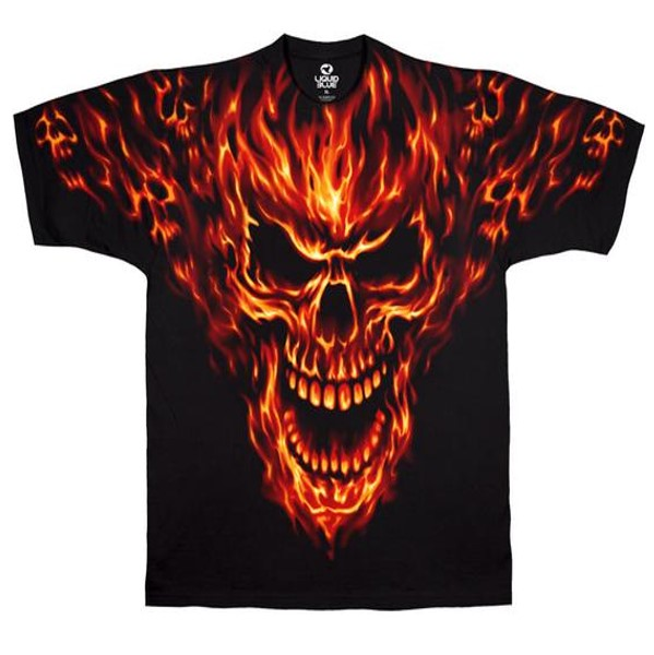 Raging Inferno Skull T-Shirt (Men)