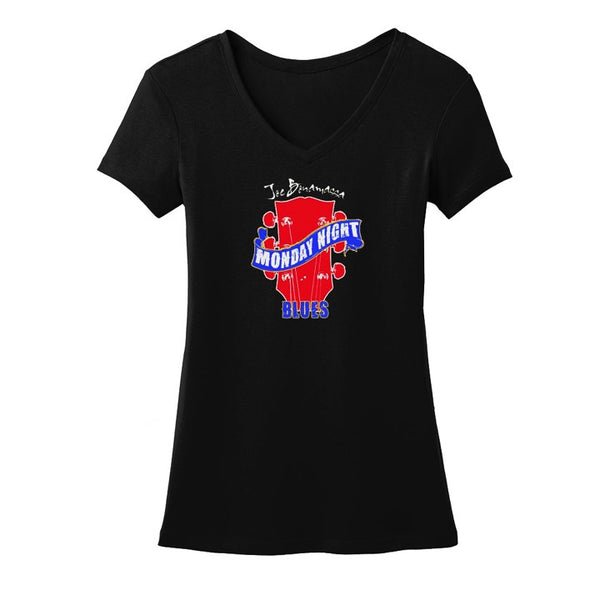 Monday Night Blues V-Neck T-Shirt (Women)