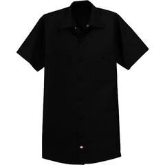 Highway to Blues Back Patch - Dickies Short Sleeve Work Shirt (Men)
