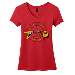 Blues to the Bone V-Neck (Women) - Red