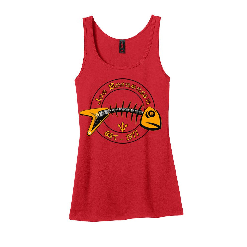 Blues to the Bone Tank (Women) - Red