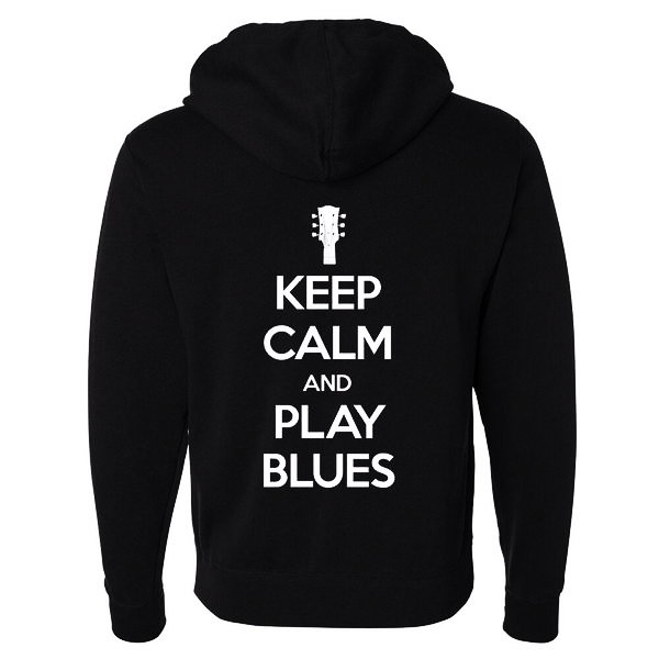 Tribut - Keep Calm And Play Blues Zip-Up Hoodie (Unisex)