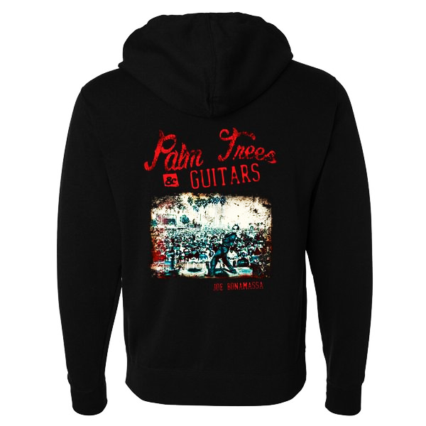Palm Trees & Guitars Zip-Up Hoodie (Unisex)
