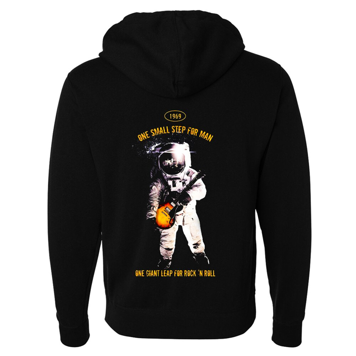 Tribut - One Giant Leap for Rock n Roll Zip-Up Hoodie (Unisex)