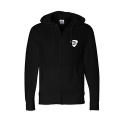 V-Twin Blues Zip-Up Hoodie (Unisex) - Black