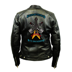 Always on the Road Back Patch - Top Grain 3 Pocket Leather Jacket (Women)