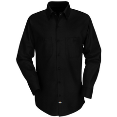 In Blues We Trust Back Patch - Dickies Long Sleeve Work Shirt (Men)