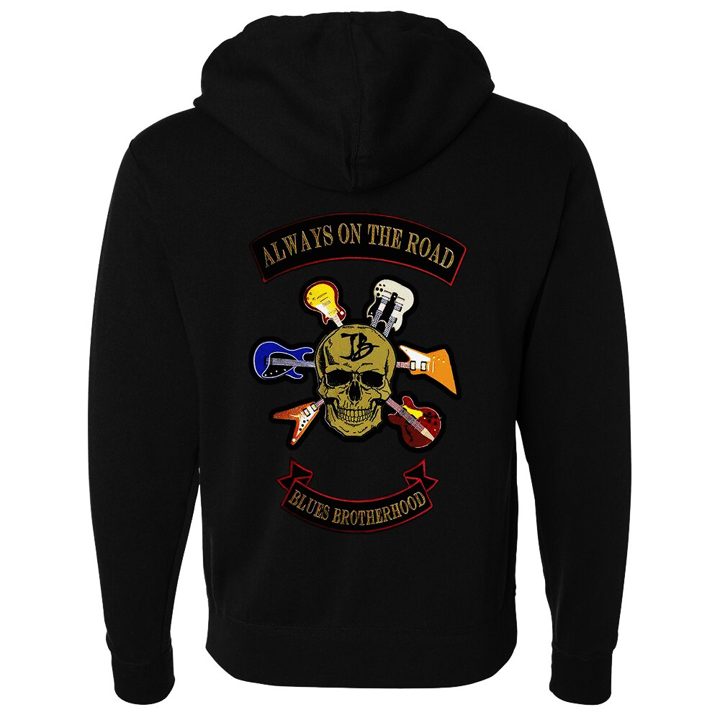Blues Brotherhood Zip-Up Hoodie (Unisex) - Black