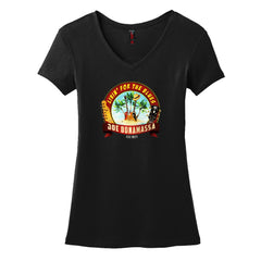 Livin' for the Blues V-Neck (Women) - Black