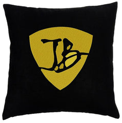 Gold JB Pick - Faux Suede Pillow