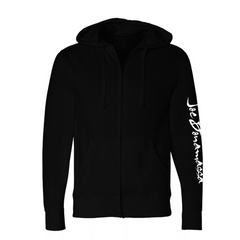 Iron Cross Zip-Up Hoodie (Unisex) - Black